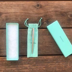 Tiffany & Co Chrome Clip Ballpoint Pen